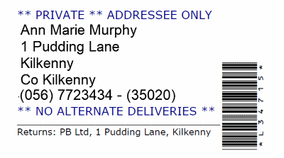 Sample Address Label